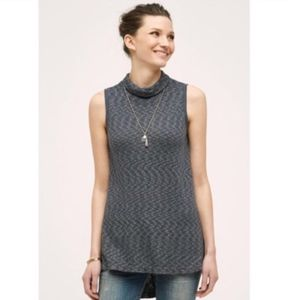 Left Of Center Anthropologie Mock Neck Tunic